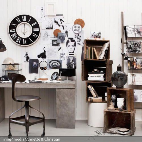 Leicht Chaotisch Und Doch Einheitlich Präsentiert Sich Dieses Arbeitszimmer  Mit Vintage Elementen Und Möbeln Im Shabby