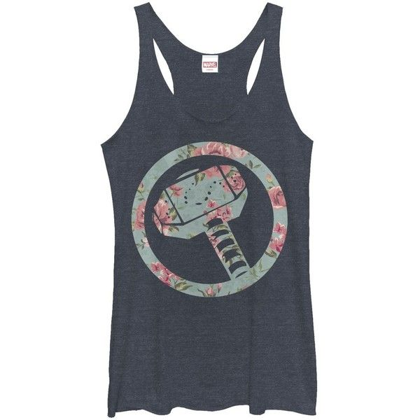 76c68af8c8fd22 Women s Thor Hammer Floral Print (24 AUD) ❤ liked on Polyvore featuring tops