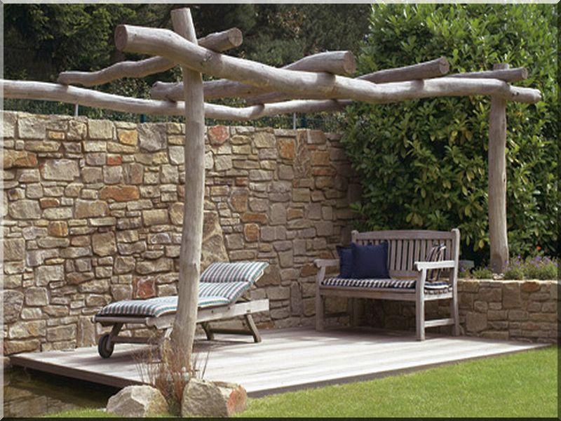 Robinienholz Pergolabau Robinienholz Garten Garten