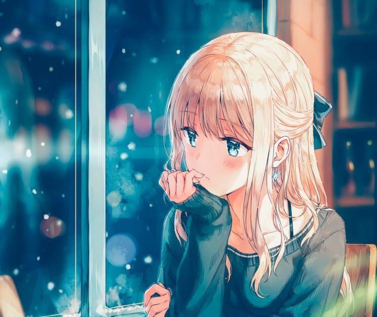 28 Anime Hd New Wallpaper Long Hair Blonde Anime Anime Girls Sweater Snow Aqua Download Free Wallpaper Anime Dark Wallpaper H Gambar Anime Gambar Animasi