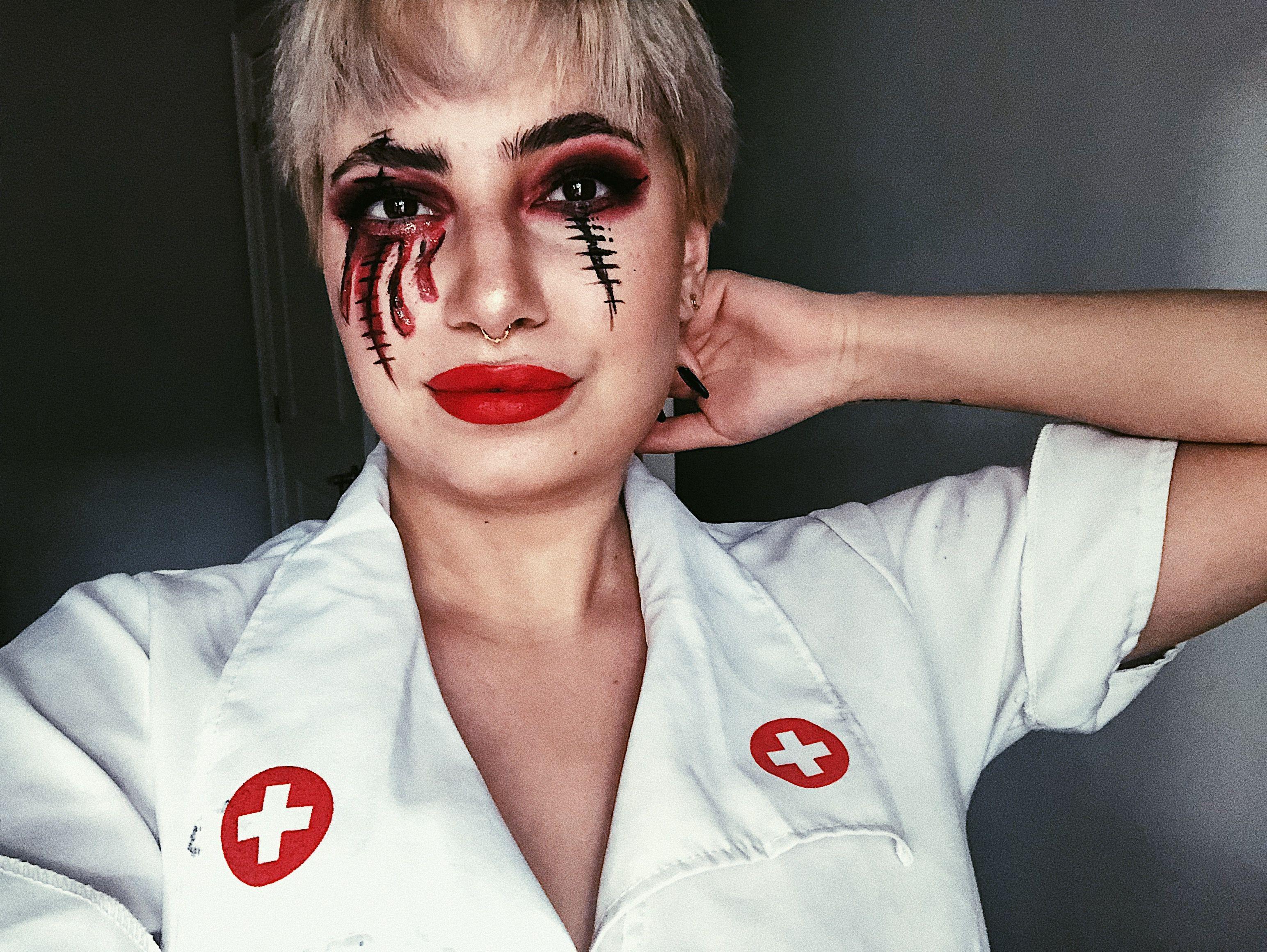 nurse makeup makeuptutorial scary spooky