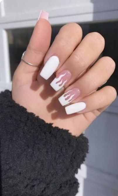 50 Glittering Acrylic Nail Designs For Long And Medium Length Nails In 2020 Square Acrylic Nails Short Acrylic Nails Designs Simple Acrylic Nails