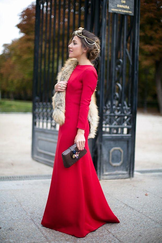 Vestidos de fiesta para boda en invierno