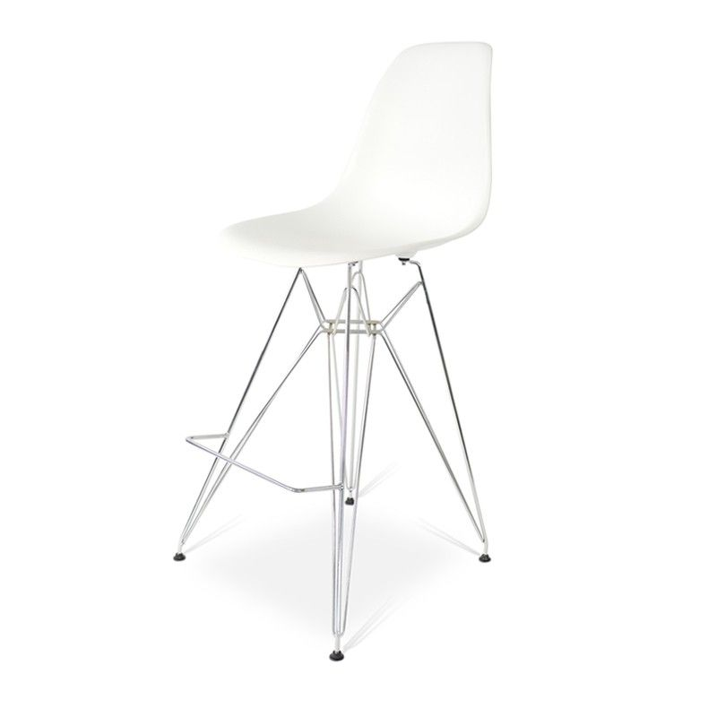 Charles Dsr Eiffel Barstool In White Online At Designerchairs24