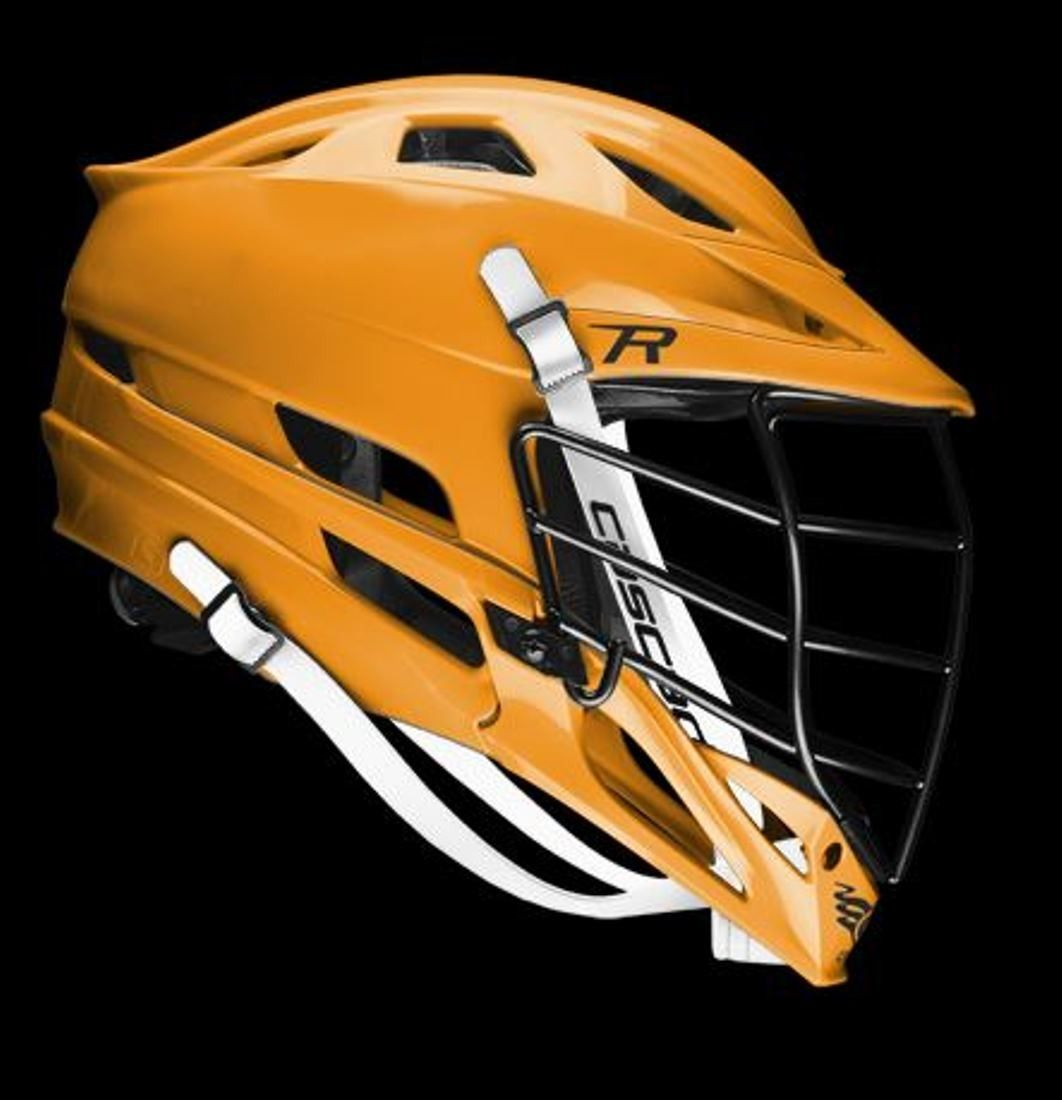 "Cascade ""R"" Lacrosse helmet - Athletic Gold, Black Facemask"