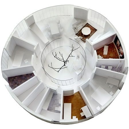 A Cool Modern Shape With An Atrium Courtyard And It S A Passive House Covets Round House Passive House Green House Design