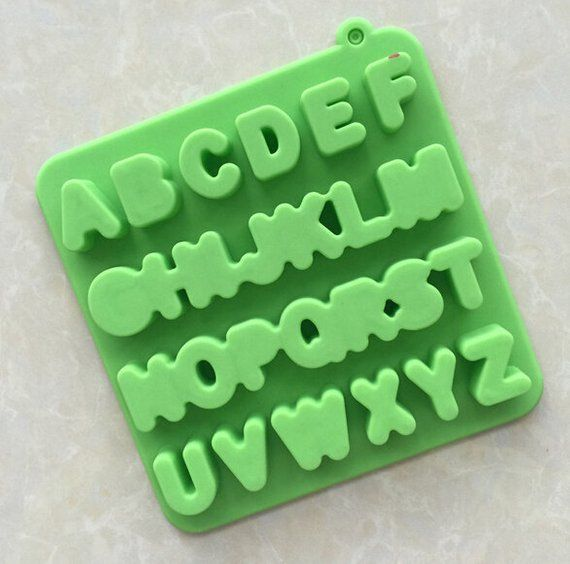 Alphabet Letter Chocolate Mold Soap Cake Mold Silicone