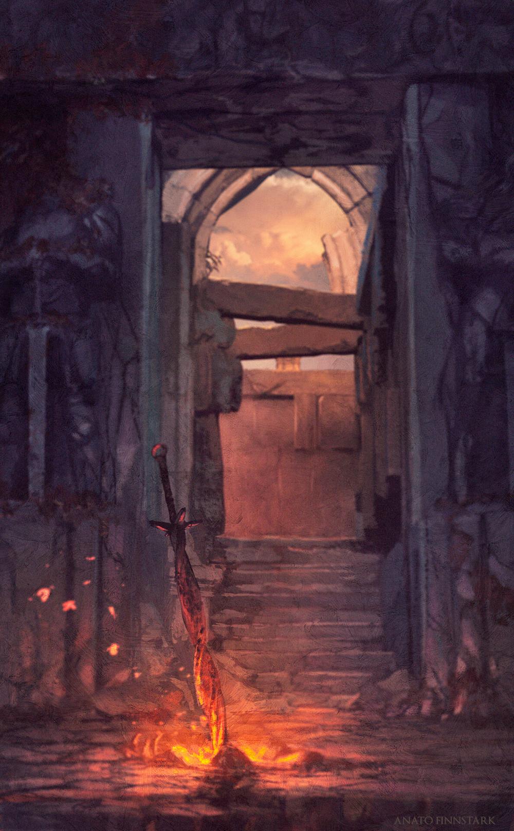 Artstation Bonfire Dark Souls 2 Anato Finnstark In 2021 Dark Souls Painting Dark Souls Dark Souls 2