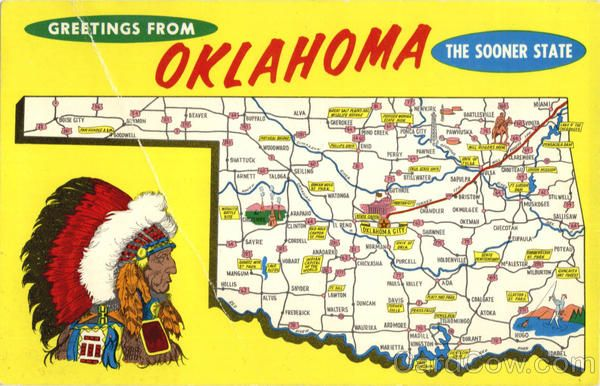 Oklahoma Geography NEW U.S State Travel POSTER