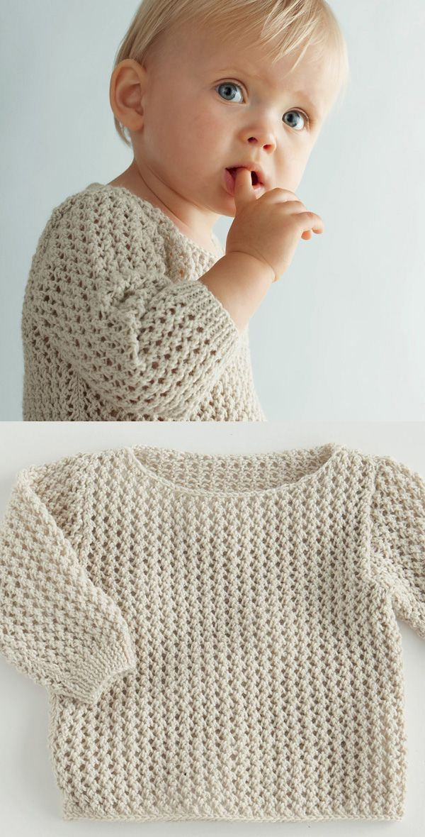 A soft spring sweater for baby   Knit; Kids   Pinterest   Tejido ...