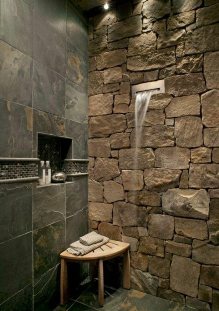 Coole Und Praktische Badezimmer Ideen Und Bilder Stein Dusche Blockhaus Badezimmer Badezimmer
