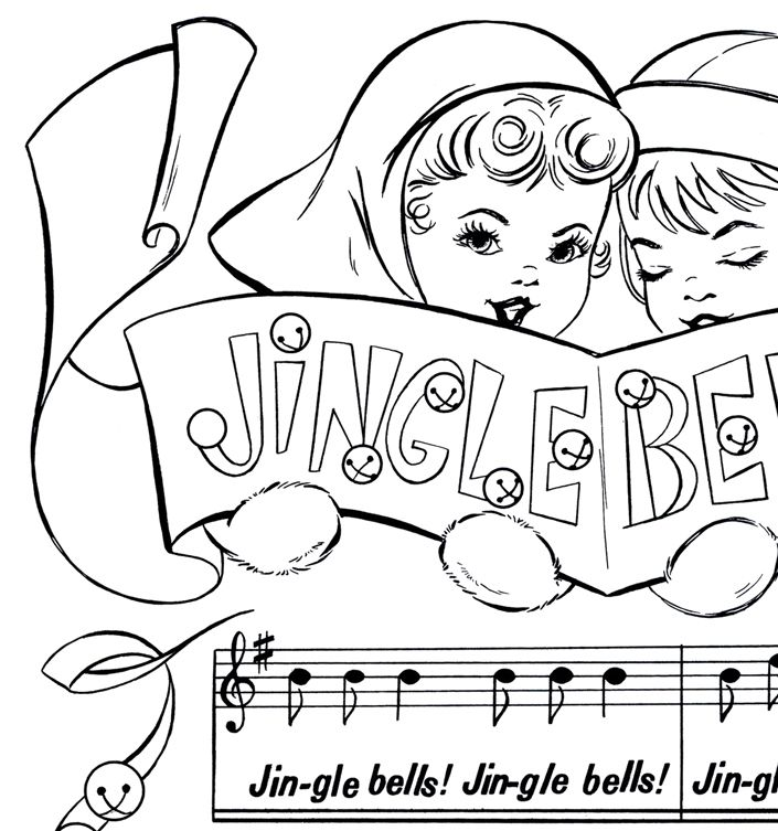 Printable Christmas Coloring Page Jingle Bells Printable Christmas Coloring Pages Christmas Coloring Pages Christmas Printables