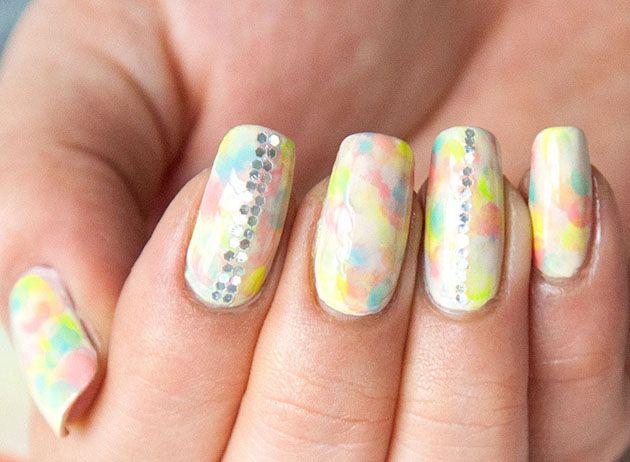 Tie Dye Nail Art Tutorial From Chelsea King Nailart Nails Nail