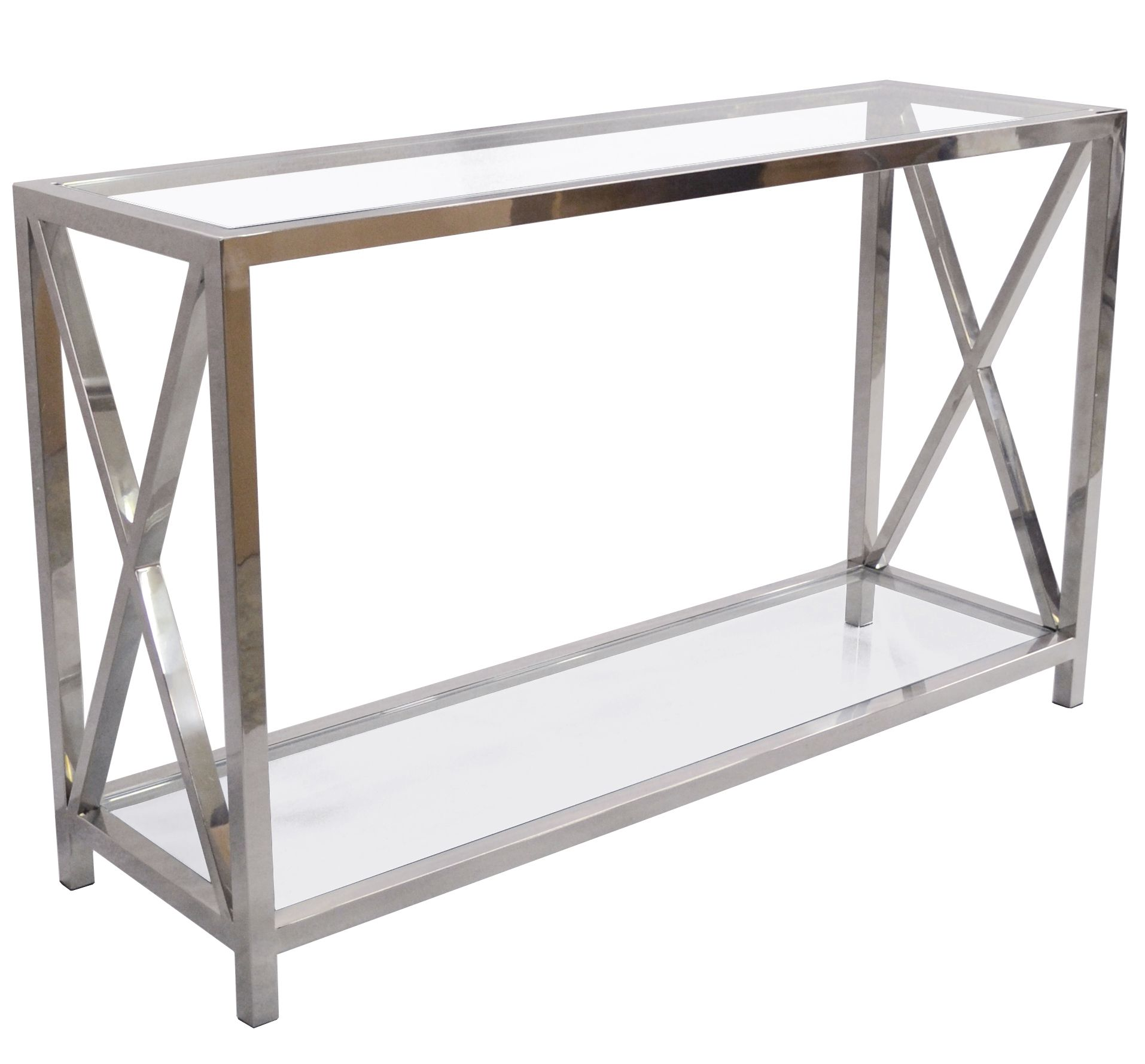 Go with glass and this Alnwick Console table for that monochrome trend and  glamorously stylish look