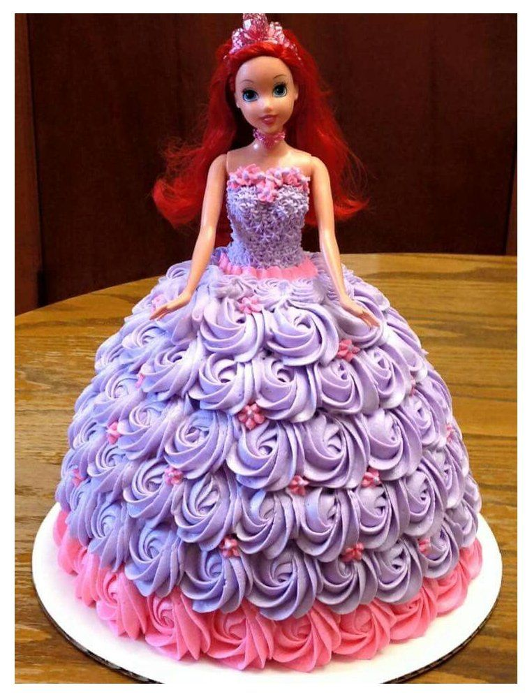 I used two boxed cake mixes, but would recommend 3 to make it. Disney Princess Barbie Cake Barbie Doll Cake Designs Princess Doll Cake Doll Birthday Cake