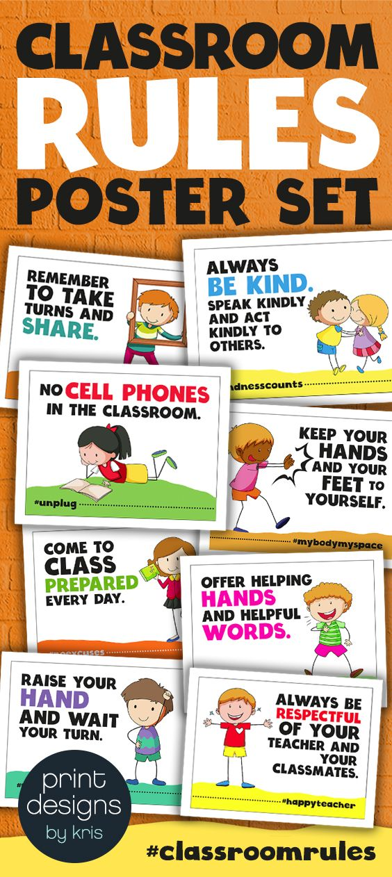 Classroom Rules Posters Fun And Colorful Class Rules Posters Hashtags Classroom Rules Poster Classroom Rules Class Rules Poster