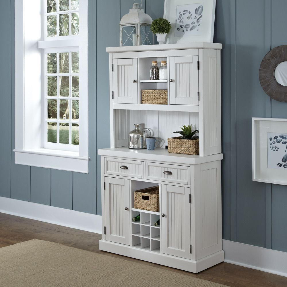 Best Kitchen Cabinet Deals: Nantucket Distressed Buffet And Hutch