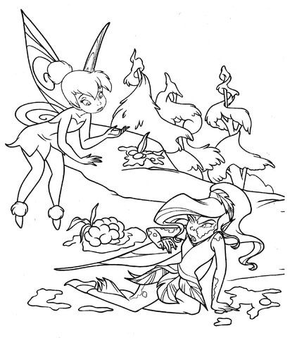 Fairy In Mud Coloring Page Tinkerbell Coloring Pages Coloring Pages Printable Coloring Pages