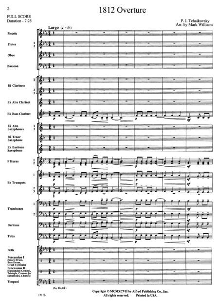 This is the score to the 1812 Overture by Pyotr Tchaikovsky. There's more than one reason this is important to composing. For one, this is a piece synonymous with great classical music. For another, this is a score, which is every part in a given piece put together for the director to read. That is important because it shows the big picture of a piece, as a composer must see it. If not for scores, composers would have a difficult time writing music reliably.