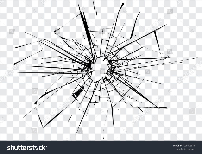 Broken Glass Cracks Bullet Marks On Glass High Resolution
