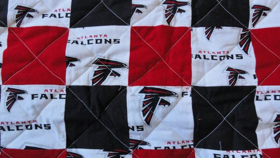 YOU ARE LOOKING AT A HANDMADE QUILT!  THIS WOULD BE GREAT GIFT FOR THAT FALCONS FAN IN YOUR LIFE EVEN IF IT YOU!! IT MEASURES AROUND 72 WIDE AND