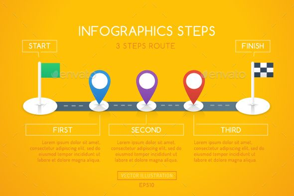 milestone infographic template vector eps ai illustrator 3 steps
