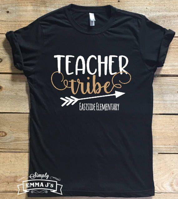 85f798e7 Teacher tribe, Custom Shirt, Teacher Life, teacher, school spirit ...