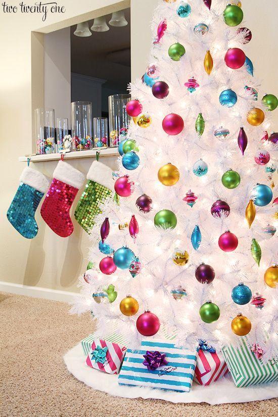 Decoración de arboles de Navidad en blanco - white christmas tree decorations