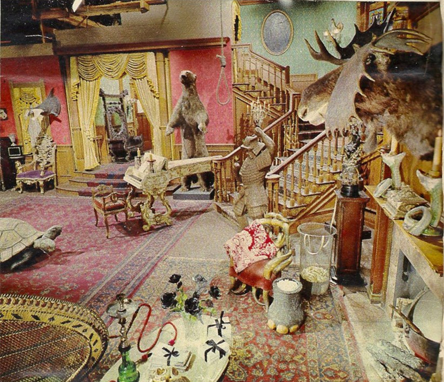 The Addams Family's Living Room Was Actually Pink