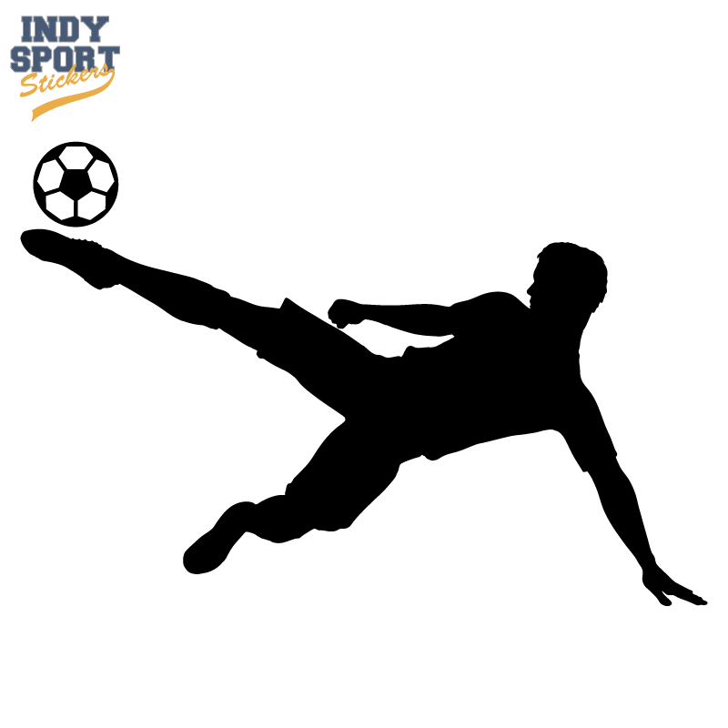 Soccer Player Silhouette Sidekick Ball Car Stickers And Decals Silhouette Soccer Silhouette Soccer Players