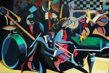 """Saatchi Art Artist Karolina Franceschini; Painting, """"The band"""""""