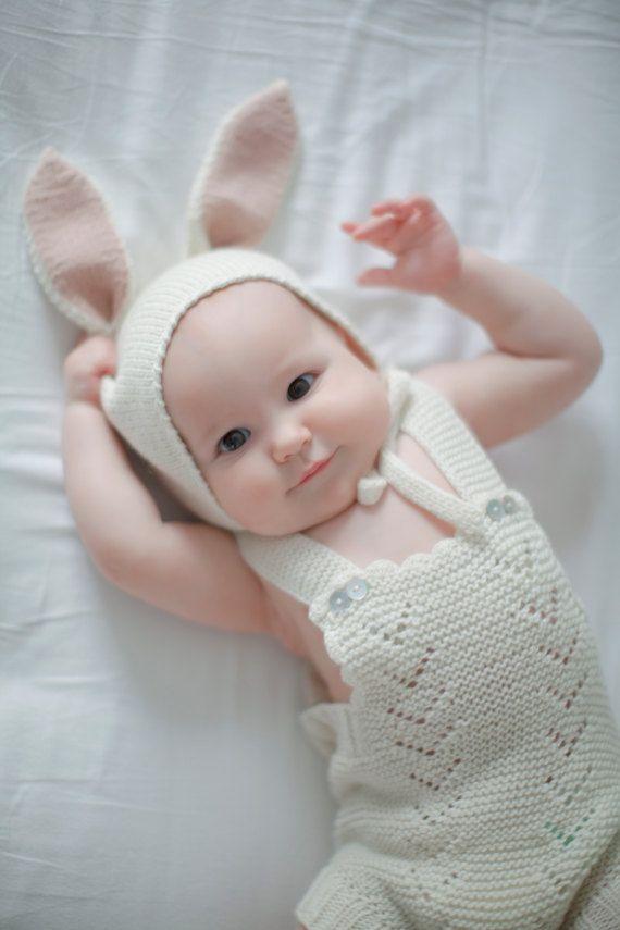 White Knitted Easter Romper