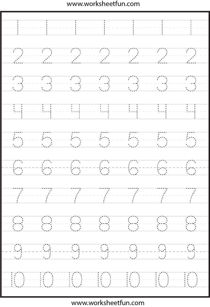 Number Tracing Atividades De Aprendizagem Para Criancas Tarefas Do Jardim De Infancia Atividades De Alfabetizacao Matematica