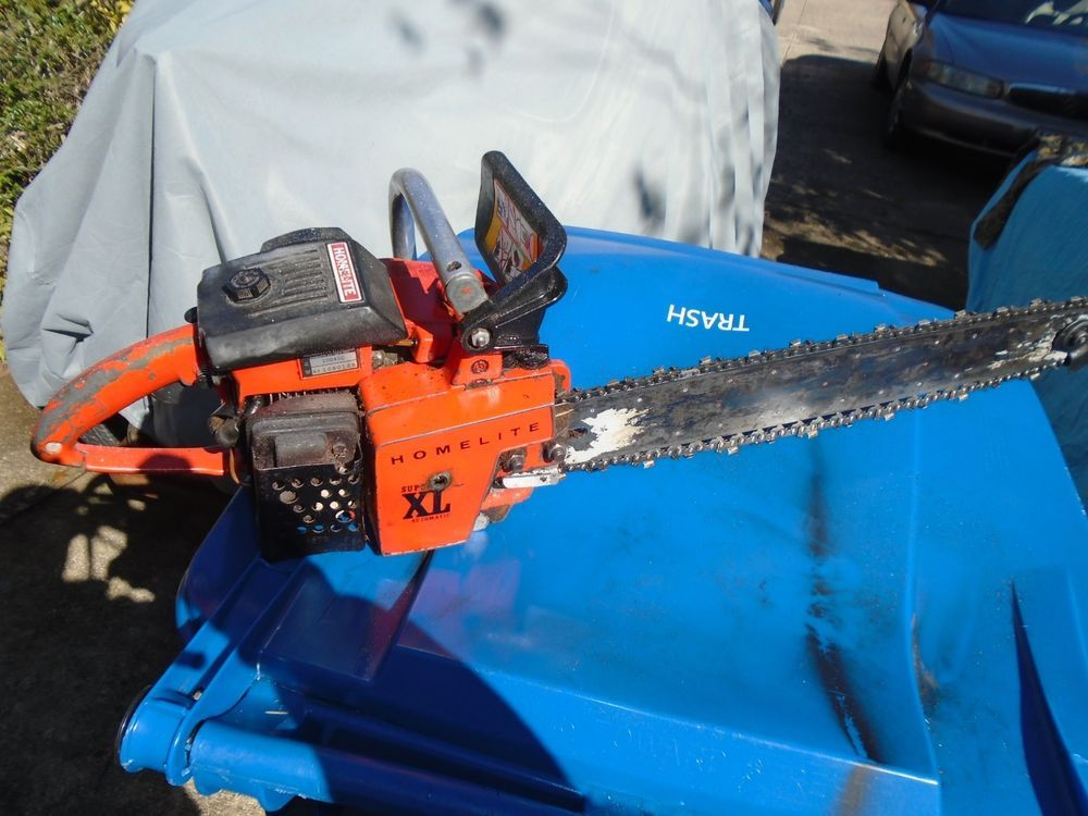 Vintage Homelite Super XL Chainsaw  20 inch chainsaw  Homelite