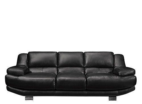 Future home decor Delfina Leather Sofa   Sofas   Raymour and Flanigan Furniture