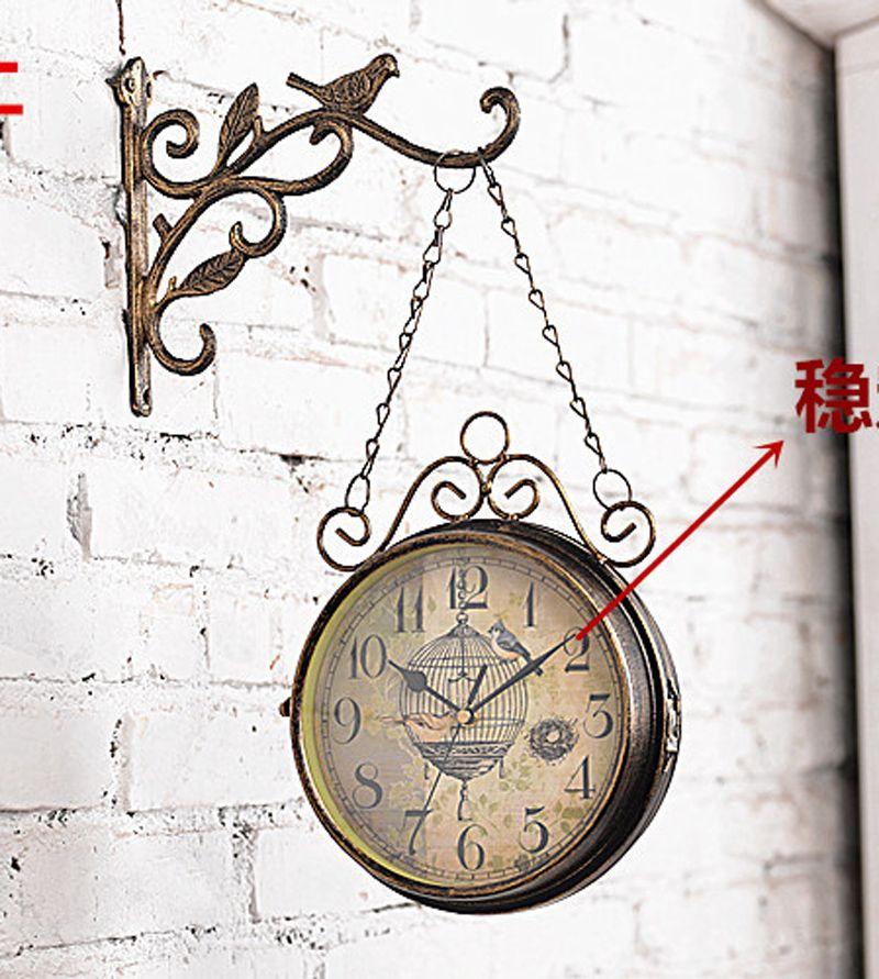 Cheap Double Face Wall Clock Buy Quality Wall Clock Directly From China Wall Clock Retro Suppliers Retro Wall Clock Wall Clocks Living Room Vintage Wall Clock