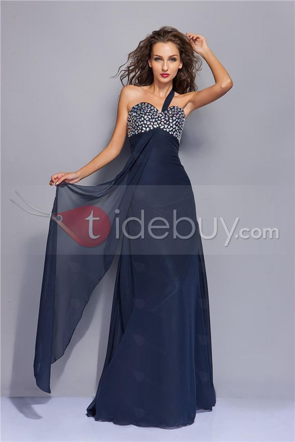 A Line One Shoulder Neckline Floor Length Miriamas Evening Dress