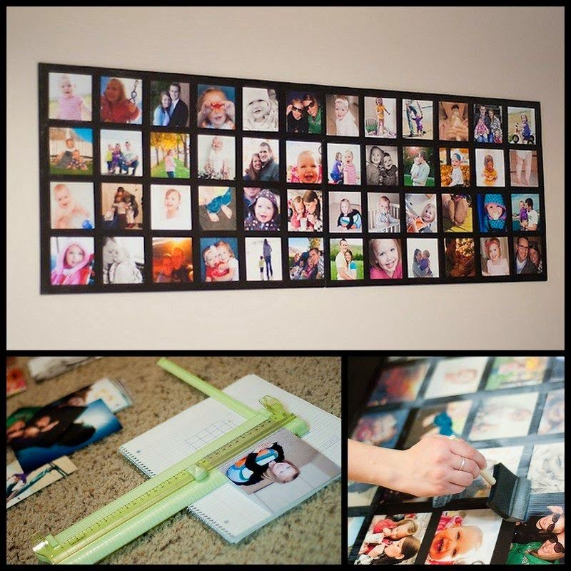 Dollar Store Crafter Wall Picture Collage Picture