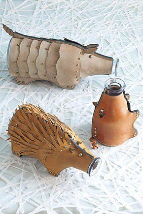 Leather Armadillo Carafe