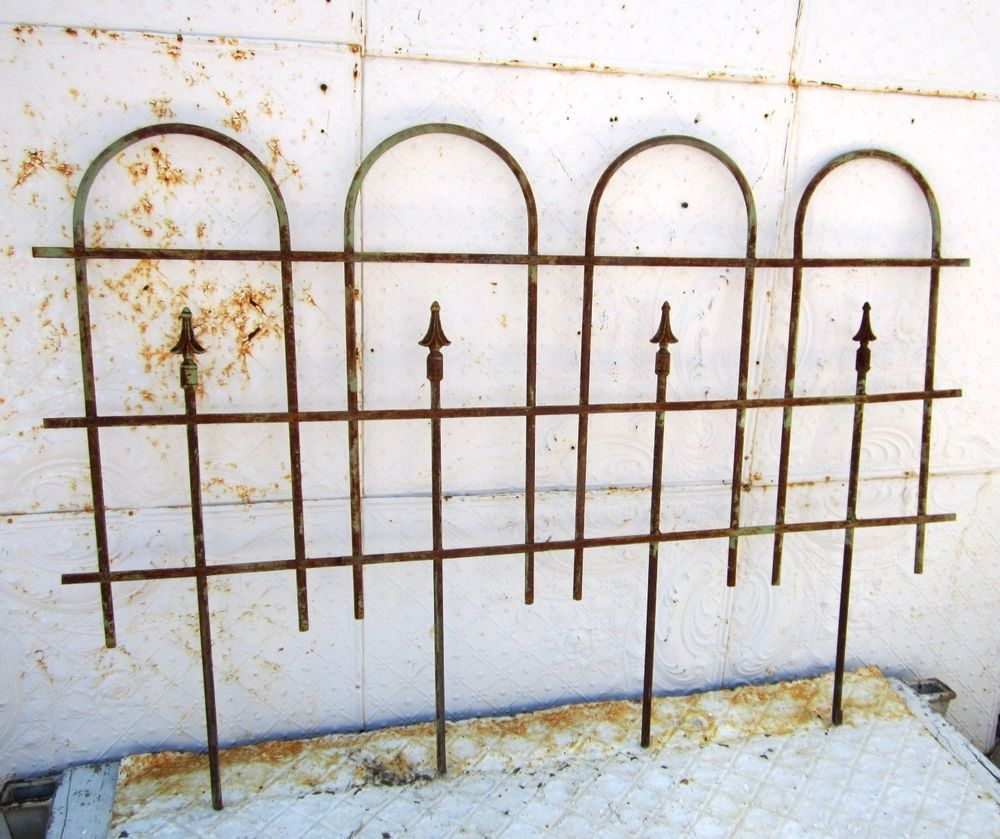 Wrought Iron Large Hoop And Spear Fence   Garden Border Edging