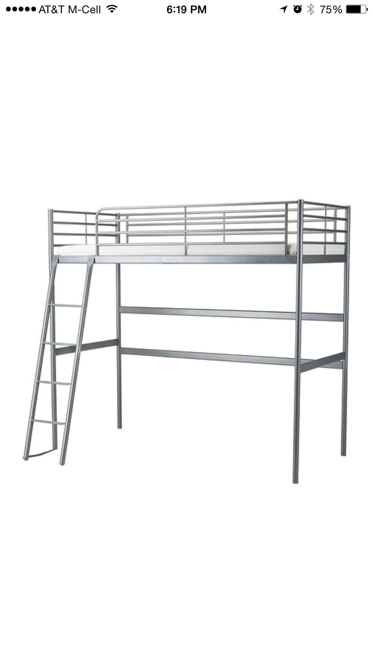 Classic Silver Metal Ikea Svarta Loft Bed Lj Bed Loft Bed