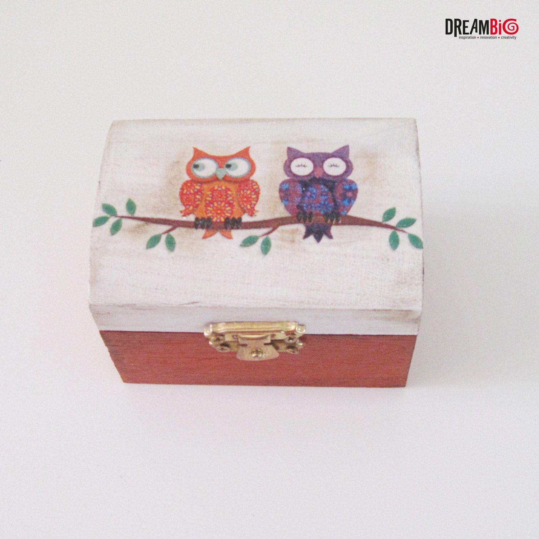 Owl Box, Owl Jewelry Box, Owl Decor,wooden Owl Box,Owl Storage