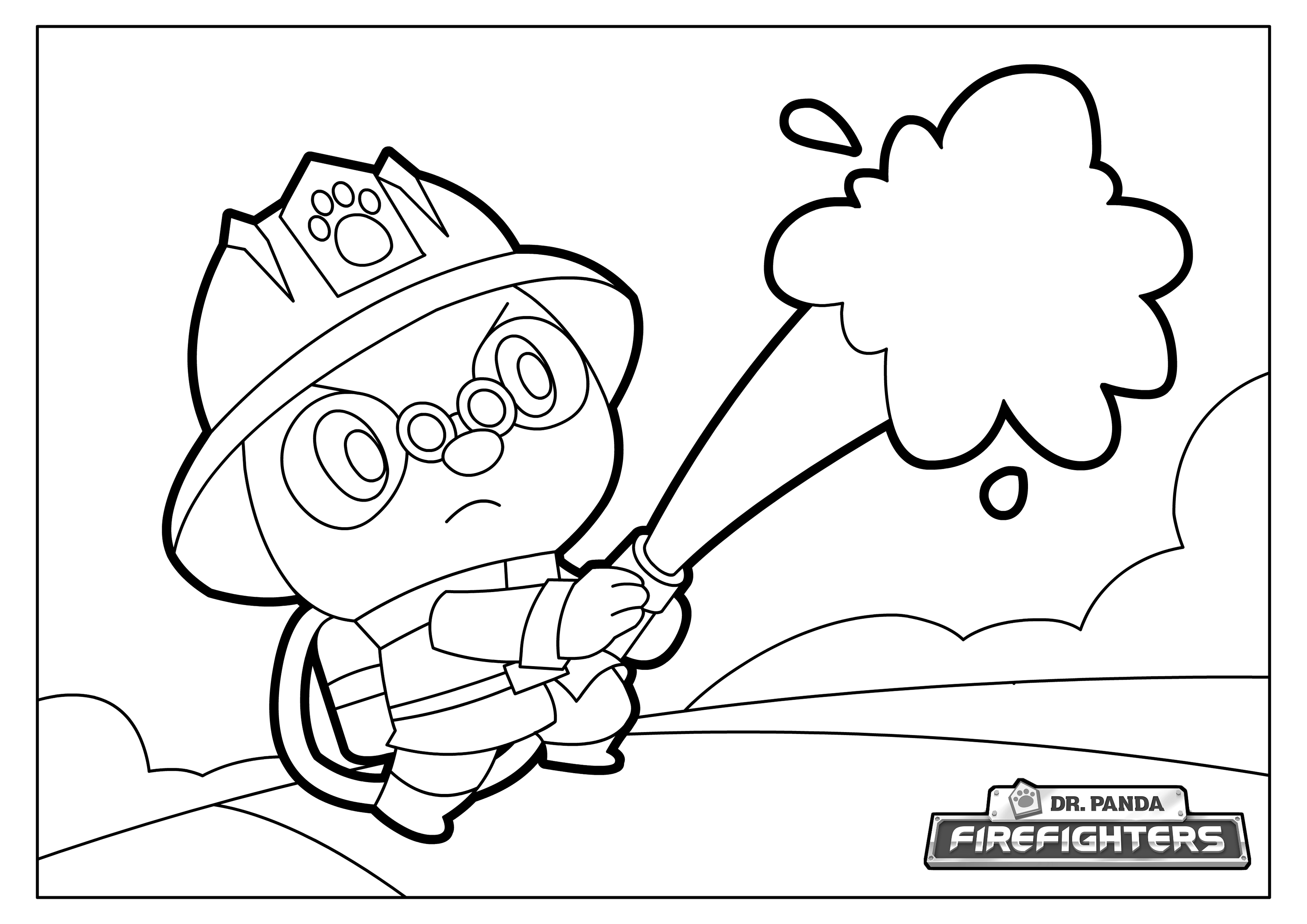 We Have Some Dr Panda Firefighters Coloring Pages For You To Print And Enjoy With Your Kids Fill Them In With Your Best And Brigh Pagine Da Colorare Colori [ 2480 x 3508 Pixel ]