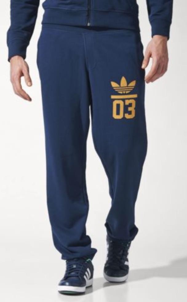 00d77b5bd196 FOR SALE  adidas Originals Mens 3-Foil Sweatpants Trefoil Joggers Blue