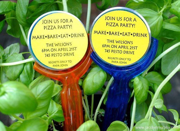 Pizza Party Invites