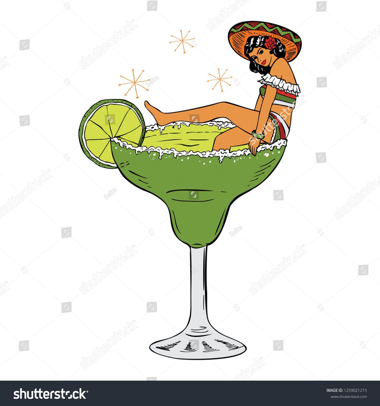 Margarita Glass Mexican Cinco de Mayo Sublimation Design PNG | Etsy