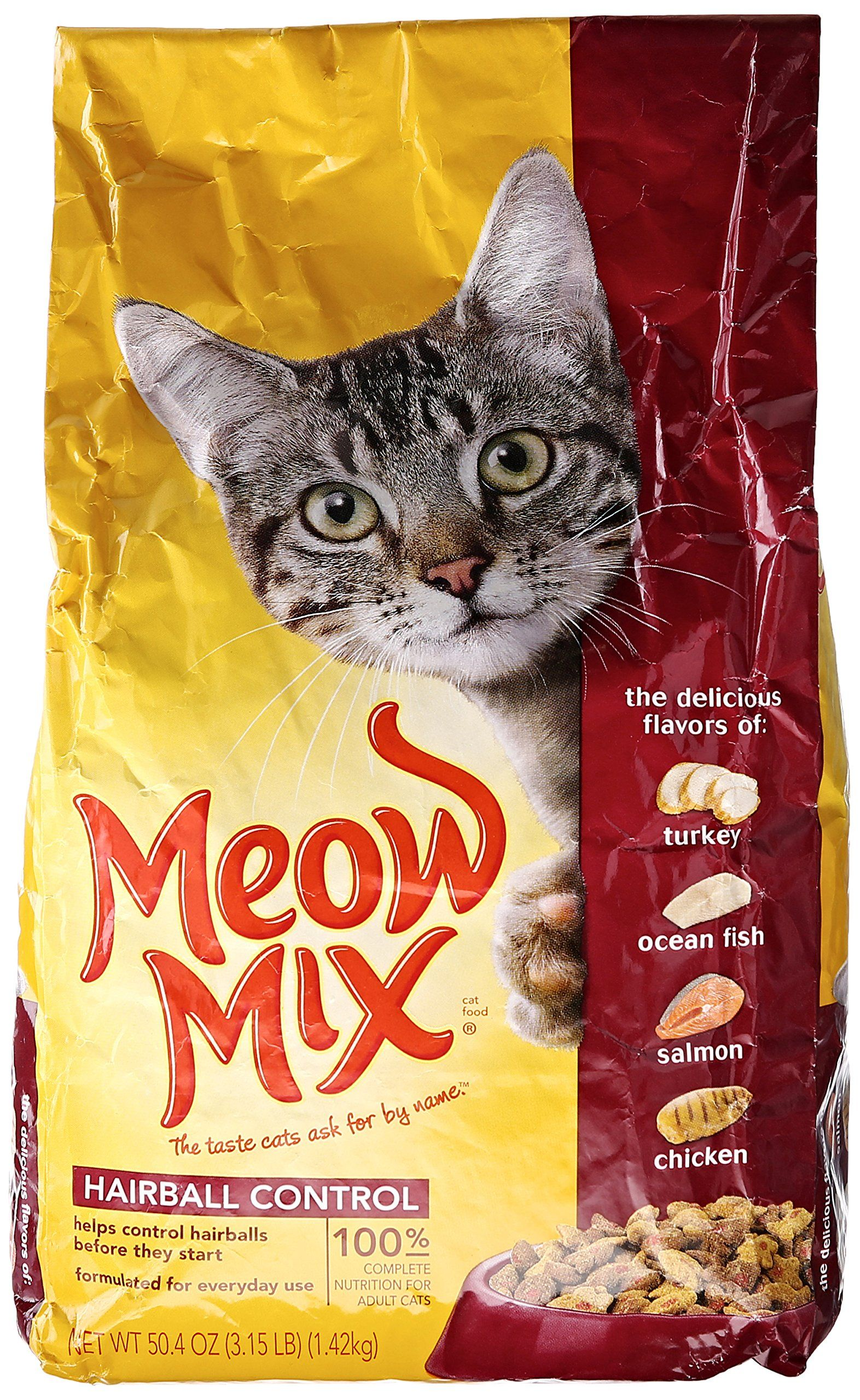 Meow Mix Cat Food Hairball Control 3 15 Lb Read More Reviews Of The Product By Visiting The Link On The Image This Is An Affiliate Lin Dry Cat Food Salmon