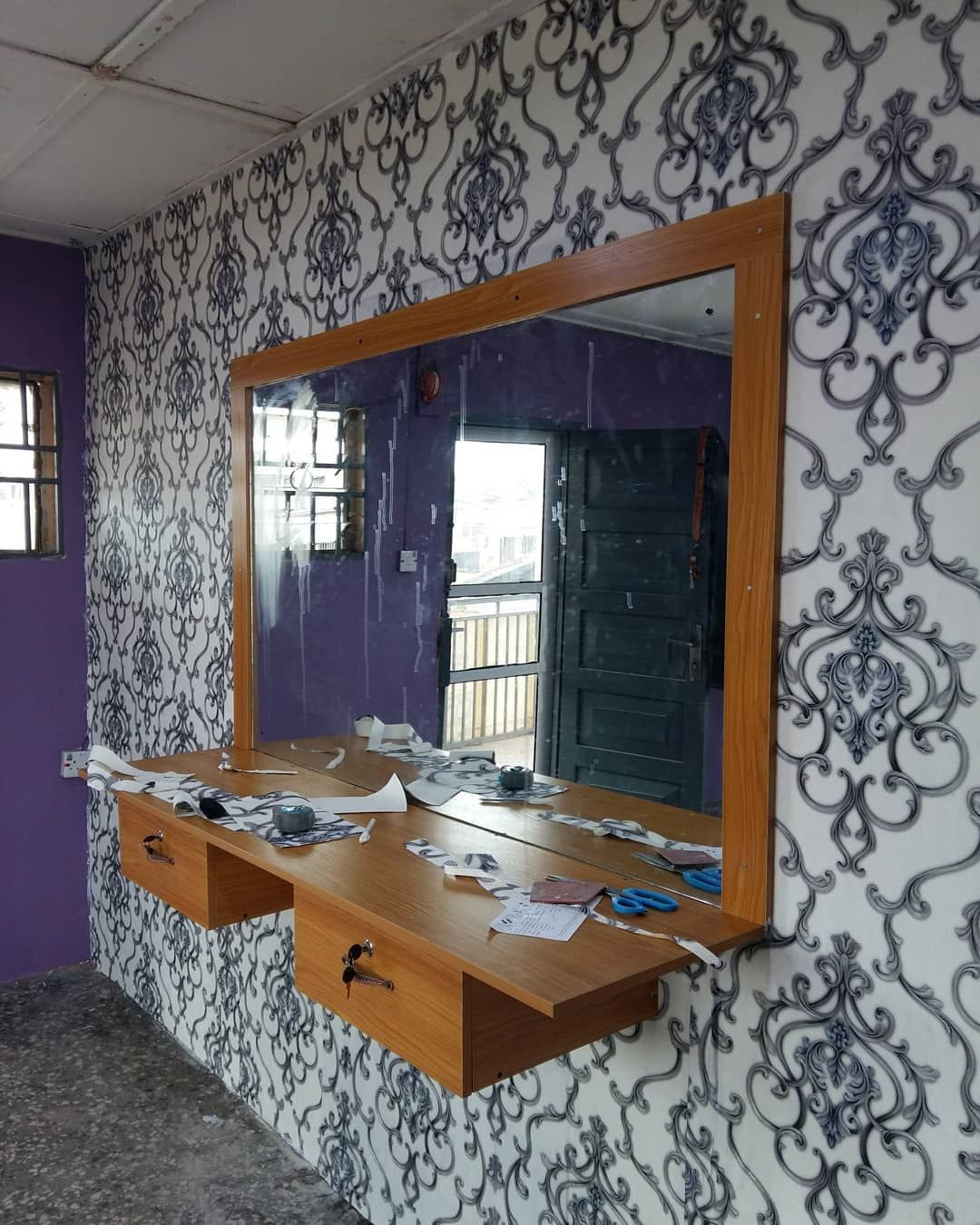 Perfected 3d Wallpaper Installation It S Our Work We Gives Quality Works And Excellen 3d Wallpaper Installation How To Install Wallpaper Interior Design