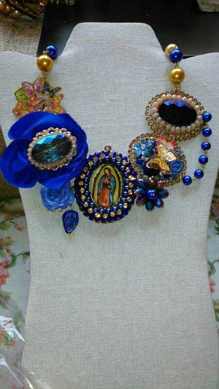 Collar virgen de Guadalupe diseñado por Deseos Divinos Guadalajara 044 333 508 58 55