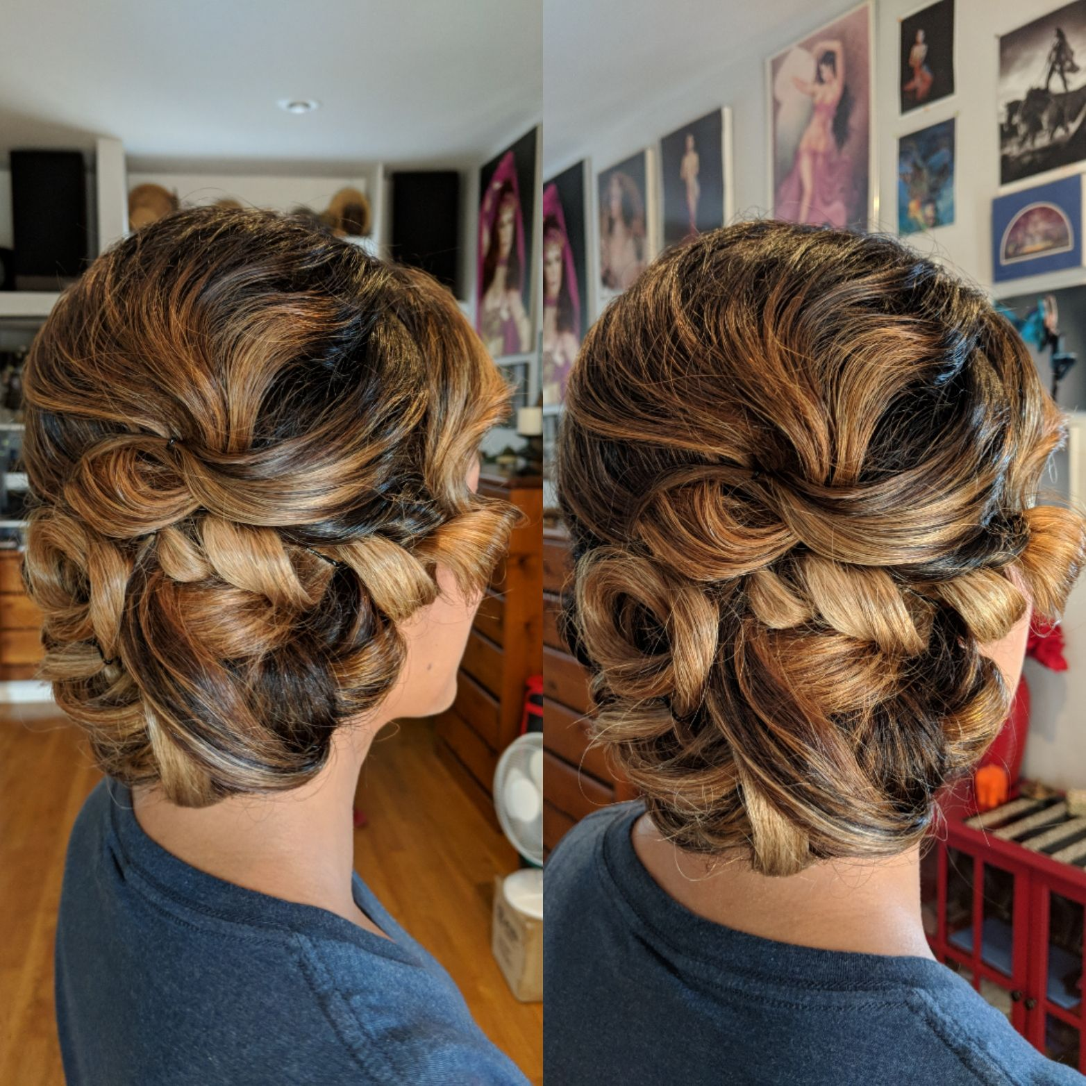 Spectacular Braided Updo It Turned Out With A Slightly Vintage